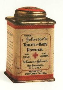 J&J first baby powder tin