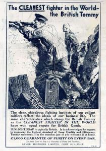 Sunlight Soap Advt during World War I