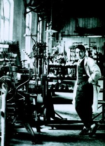ADIDAS_the young Adi Dassler in his shoe factory