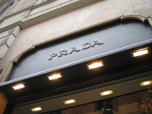 Prada store in Rome